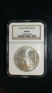1994 W VIETNAM NGC MS69 Commemorative $1 Coin Auction Starts at 99 Cents!