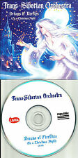 TRANS SIBERIAN ORCHESTRA Dreams of Fireflies 2013 USA PROMO DJ CD single MINT