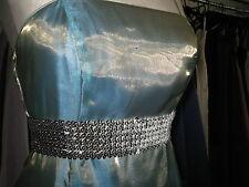 DEBUT/DEBENHAMS TURQUOISE GREEN BRIDESMAID/PROM/BALL GOWN/BALLGOWN DRESS 10/12