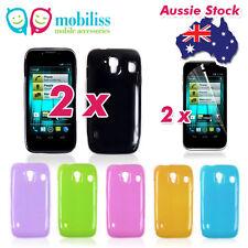 2 x Telstra EasyTouch 4G T82 Soft TPU Gel Jelly iSkin Case Cover Skin