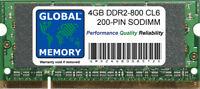 4GB (1 X 4GB) DDR2 800MHz PC2-6400 200-PIN Memoria Sodimm RAM Para Portátiles