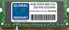 4GB (1 x 4GB) DDR2 800MHz PC2-6400 200-PIN Sodimm Memoria Ram per Portatili