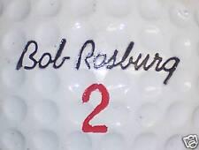 (1) SIGNATURE - BOB ROSBURG  1966  LOGO GOLF BALL BALLS