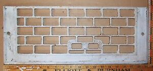 """Vintage Cast Iron Floor To Wall Grate White 19-3/8"""" x 7½"""" Decor - Steampunk"""
