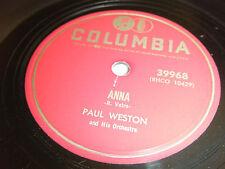 PAUL WESTON 78 Anna / Dutch Treat 1953 Columbia 39968 EX+ smooth shiny