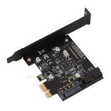 PCI-E Express ASMeda USB 3.0 19 pin Connector and 15-pin SATA Power Adapter Card