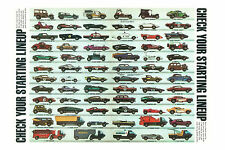 "Hot Wheels 1970 Redline 24"" x 36"" Poster - Cord, 442, Beach Bomb Corvette & more"