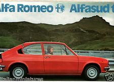 Alfa Romeo Alfasud TI italiano folleto de ventas