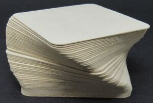 """NEW 100-PACK Pulpboard 3-1/2"""" Square Coasters Blank Recyclable Cardboard Paper"""