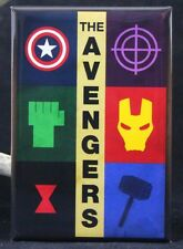 "The Avengers 2"" X 3"" Fridge / Locker Magnet. Iron Man Hulk Captain America Thor"