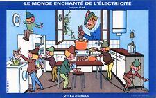 BUVARD / LE MONDE ENCHANTE DE L'ELECTRICITE VUE PAR GAD / LA CUISINE
