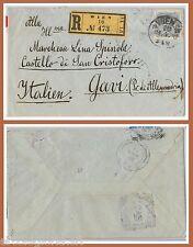 57083 - AUSTRIA - STORIA POSTALE :   BUSTA a GAVI con raro annullo d'arrivo