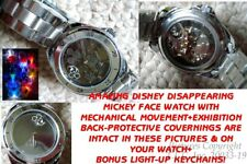 NEW RARE POLARIZING DISAPPEARING  FACE MECHANICAL DISNEY MICKEY MOUSE WATCH