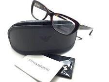 Emporio Armani Shiny modified Cateye Havana 53 Eyeglasses EA 3041 5026