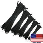 "2500 Piece Black Nylon 4"" - 14"" Inch Cable Tie Assortment Zip Wire Wraps Kit USA"