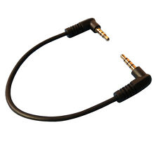 Black 20cm right angle 3.5mm male to male 4-poles Gold-plated 90 degree
