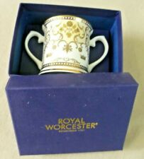 Collectable Ceramics - Boxed Royal Worcester Birth Of Prince George Loving Cup