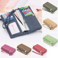 Luxury Faux Leather Women Wallet Long Clutch Card Holder Purse Box Handbag Bags