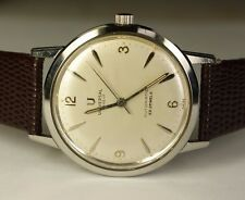 Universal Genève Microtor 215-97 23j Automatic Vintage Watch Stainless Steel