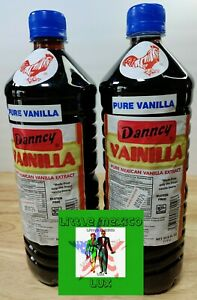 Two (2) Danncy Dark Pure Mexican Vanilla Extract From Mexico 33.8 Oz Each 2⚡🚚