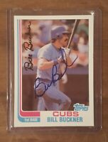 BILL BUCKNER (Deceased) 1982 Topps Signed Auto Autograph #760 Chicago Cubs