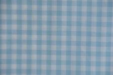 hellblau-weiß karierter Baumwollstoff 50 cm x 140 cm