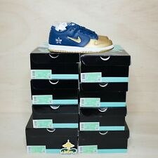 Nike SB Dunk Low Supremo Joya Swoosh Oro Tamaño 8, DS a estrenar