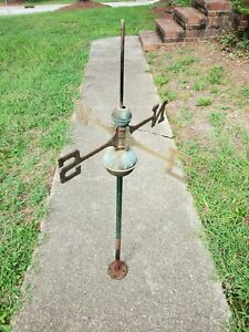 Authentic vintage weathervane brass Letters NESW Copper Ball Missing Topper 40""