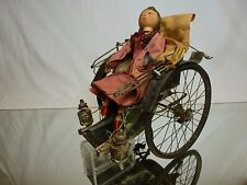 TIN TOY - BLECH ANTIQUE VINTAGE JAPAN CHINA PUPPET DOLL IN RIKSJA - RARE - NICE