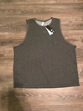 New Wt Men'S Adidas Contender Tank Athletic Top Muscle Shirt Gray Black 2Xl