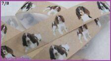 1 metre, COCKER SPANIEL, 25mm, Ribbon, 1 inch, Dog, Grosgrain, Hair, BUY 5 GET 6