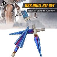 1/3Pcs HSS Step Cone Drill Titanium Steel Metal Hole Cutter Bit Set 4-12/20/32mm