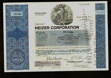 Heizer Corporation Chicago IL ( Private Venture Capital Company ) dd 1984