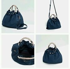 ZARA LEATHER BUCKET BAG WITH HANDLE DETAIL REF. 4002/104 NWT!!!