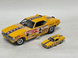 1/24 & 1/64 set Hot Wheels Legends the Snake Funny Car of Don Prudhomme   JD219