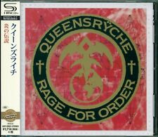 QUEENSRYCHE RAGE FOR ORDER SHM REMASTERED CD +4 - JAPAN 2015 - GIFT PERFECT