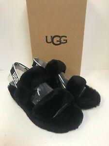 UGG Oh Yeah Black Sheepskin Slipper