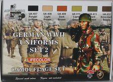 LifeColor Acrílicos LC-CS05 Guerra Mundial 2 conjunto de 2 uniformes alemanes