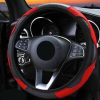 Red & Black Foam Steering Wheel Cover/Glove Soft/Padded Car/Van Universal Fit