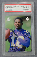 Randy Moss 1998 Collector's Edge 1st Place Rookie Record Setter Silver PSA 8