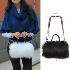 8263c42241 US Fashion Womens Girls Faux Fur Single Shoulder Handbag Messenger  Crossbody Bag
