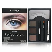 Cameo Cosmetics Perfect Brow- Dark or Natural Eyebrow Colors Stencils w/ Tweezer