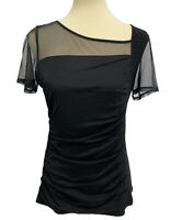 DKNY Women's Black Short Sleeve Top Size M