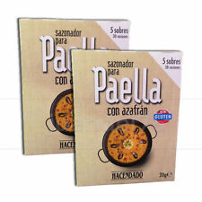 2 PACK SPANISH PAELLA SEASONING MIX WITH SAFFRON, (5 SACHETS/PACK) - 60 SERVINGS