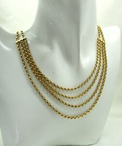 Lovely Antique 9 Carat Gold Watch Guard Necklace