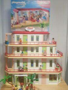 Playmobil Hotel 5265 + 5269 + Zusatzetage also mit 4 Etagen !!