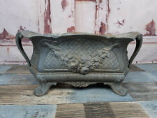 Vintage Antique French Art Nouveau Pewter Jardiniere Planter Centre Piece 1900s