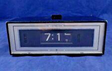 Vintage General Electric Flip Number Alarm Clock Lighted Dial GE Model 492E EUC
