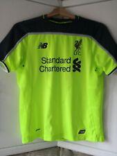 Liverpool 3rd Shirt 2016 NB Yellow Short Sleeves Football Top large boys size