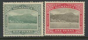 DOMINICA, MINT, #35-6, OG LH, WMK 3, CLEAN, SOUND & CENTERED